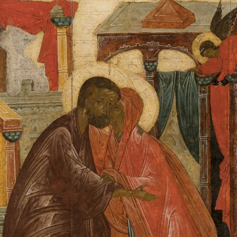 Икона «Встреча праведных Иоакима и Анны у Золотых ворот». Обретение шедевра