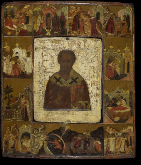 Святитель Николай Мирликийский, с житием в двенадцати клеймах