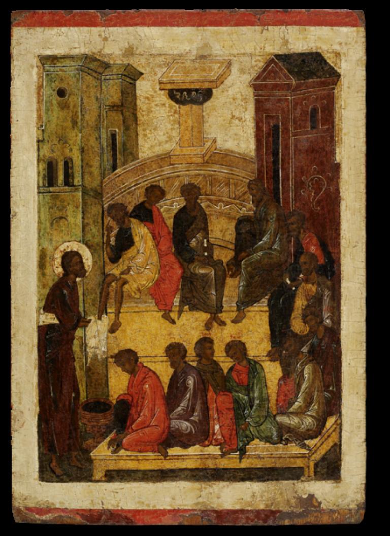 Омовение ног, из праздничного чина иконостаса