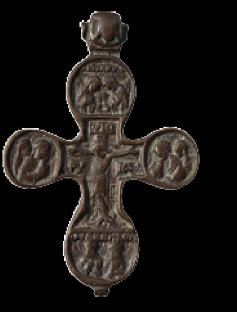 Распятие – Пророк Илия (крест наперсный двусторонний)