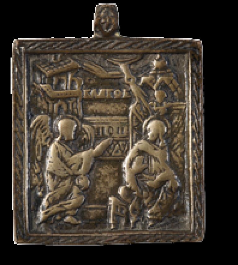 Благовещение Богородицы (наперсная икона)