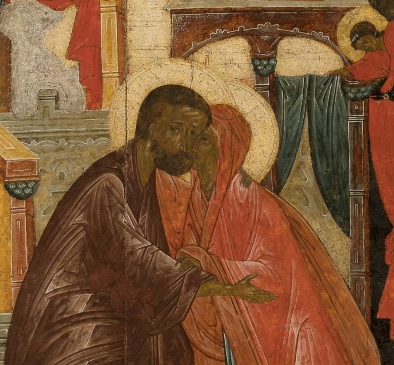 """Выставка «Икона """"Встреча праведных Иоакима и Анны у Золотых ворот"""". Обретение шедевра»"""